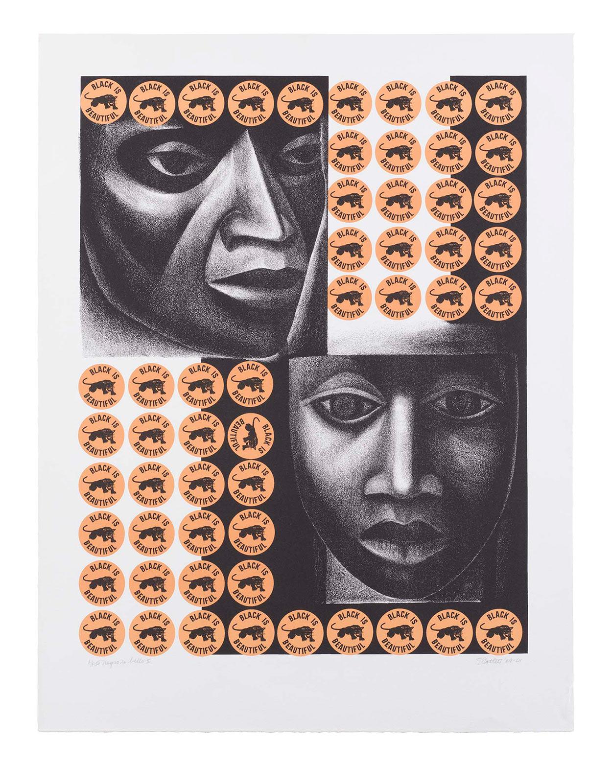 Negro es Bello II Lithograph print