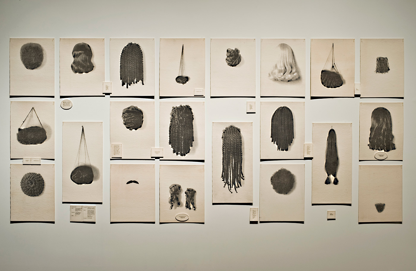 Wigs waterless lithographs on felt