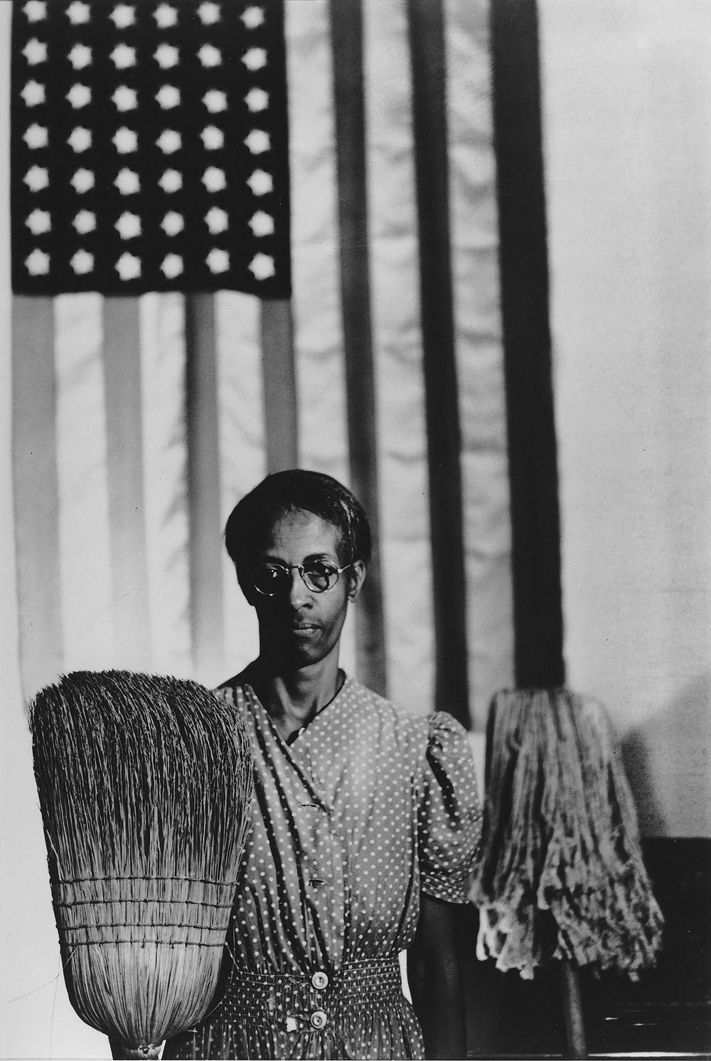 American Gothic (Ella Watson) Gelatin-silver print photograph