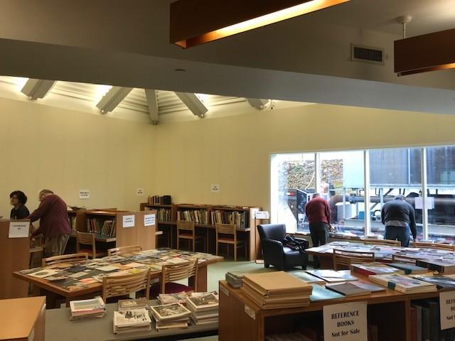 book sale, library, art books