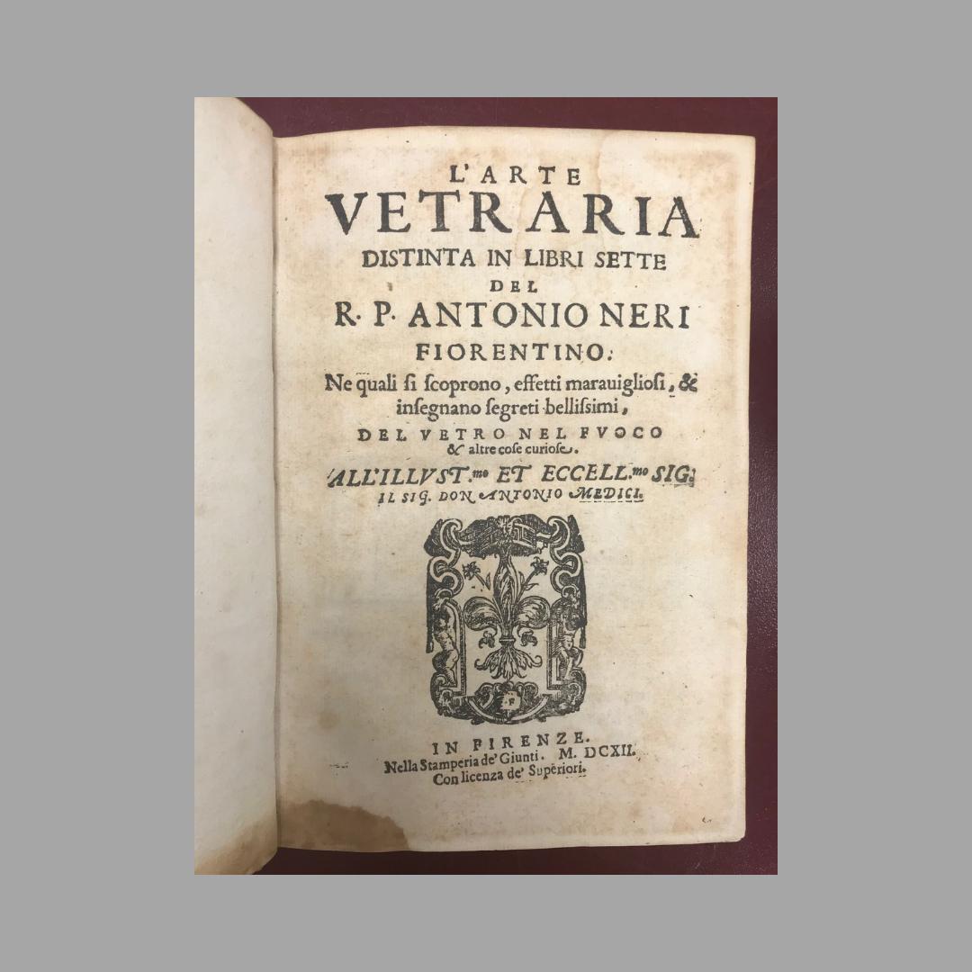 Title page of L'Arte Vetraria
