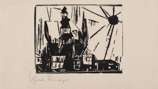 Lyonel Feininger (American, 1871-1956), Troistedt, 1919. Woodcut. Toledo Museum of Art, Museum Purchase, 1962.7