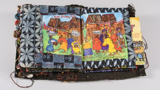 Aminah Brenda Lynn Robinson (American, 1940-2015), The Ragmud Series: Volume 8, Slave Epics, 1987-2008, mixed media, Toledo Museum of Art, Museum purchase with funds given by Rita B. Kern and Dorothy Mackenzie Price, with additional support from the artis