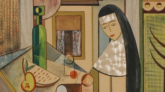 Sister Jane Catherine Lauer, Afternoon Collation. Watercolor. Toledo Federation of Art Societies, 1952