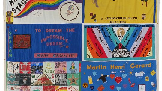 AIDS Memorial Quilt panel, NAMES Project. 12 x 12 ft.