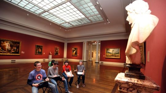 Art Students in gallery