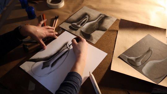 Working artists at Toledo Mueseum of Art