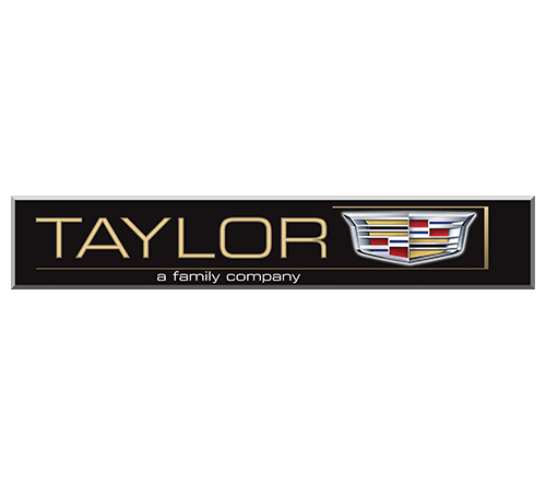 "The word ""Taylor"" is in gold against a black background."