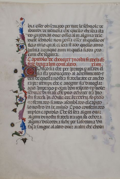 14th Century Manuscript Leaves