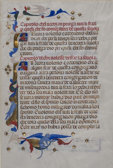 14th Century Manuscript Leaves