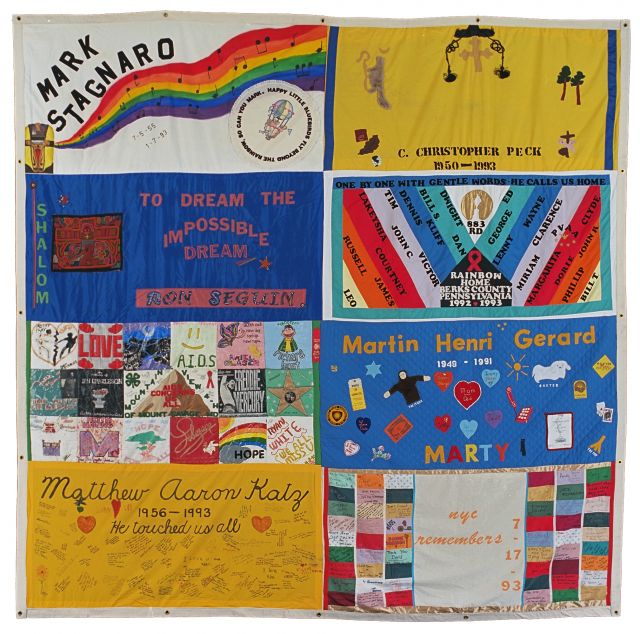 AIDS Memorial Quilt panel, NAMES Project. 12 x 12 ft.