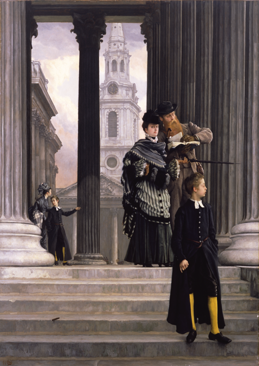 James-Jacques-Joseph Tissot (French, 1836–1902), London Visitors. Oil on canvas, about 1874. Purchased with funds from the Libbey Endowment, Gift of Edward Drummond Libbey, 1951.409