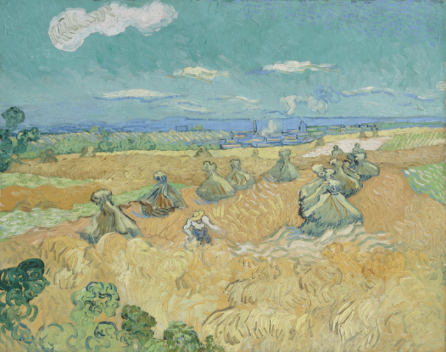 Vincent van Gogh (Dutch, 1853-1890), Wheat Field with Reaper, Auvers. Oil on canvas, 1890. Purchased with funds from the Libbey Endowmen, Gift of Edward Drummond Libbey, 1935.4