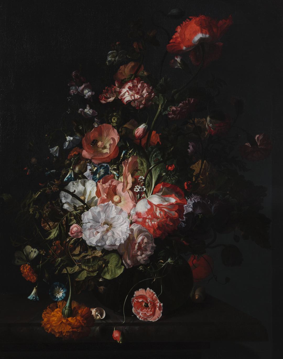 Rachel Ruysch, Flower Still Life, ca. 1726, Toledo Museum of Art, Toledo, OH, USA.